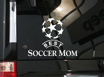Best Soccer Mom. Vinyl Car Decal Sticker 6.5