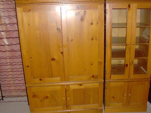 BEAUTIFUL PINE TV & MEDIA UNITS IN LIKE NEW CONDITION