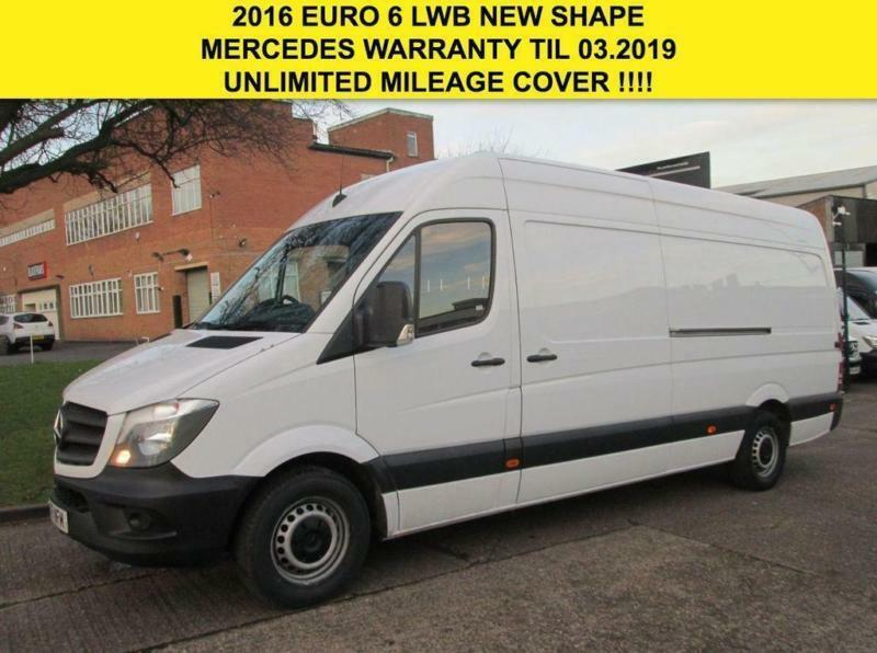 2c1ab500e1c691 2016 16 MERCEDES-BENZ SPRINTER 2.1 313CDI LWB HIGH ROOF NEW SHAPE. 1 OWNER.  EURO
