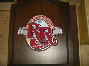 """Dartboard in """"Rickard's Red"""" Cabinet, NEW"""