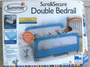 Double Bed Rail and Pink Toddler Bed with Mattress