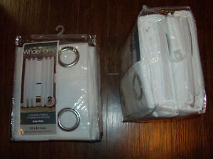 """NEW 2 Pkg of Lovely White Curtains  52""""W x 84""""L each panel x 4"""