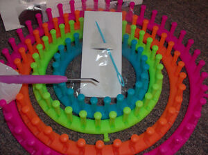 KNITTING LOOM SET, CIRCULAR $15 and BULKY YARN BALL $7