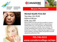 Canadore College, Parry Sound - Mental Health First Aid