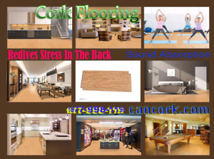 Floating Cork Flooring-Comfort Warmth Fast and Easy Installation