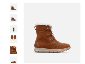 sorel woman snow boots Camel Brown