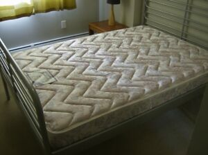Solid queen bed with quality matress