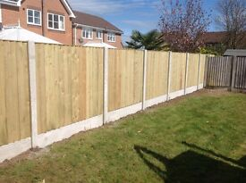 🔨🌟High Quality Heavy Duty Tanalised Straight Top Wooden Fence Panels