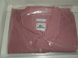 2 NEW XXL  Men's Shirts - LaCoste & American Eagle