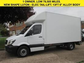 2014 14 MERCEDES-BENZ SPRINTER 2.1 313CDI LUTON BOX TAIL-LIFT 129 BHP. 14FT GRP