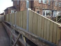 🔨🌟The Best Quality Close Board Pressure Treated Flat Top Fence Panels
