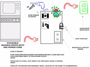 WASHER AND DRYER COIN KIT CONVERSION.....VIEW+PAY+CARRY London Ontario image 9