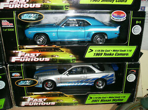 1 18 diecast fast and furious X 10 AUTOS MINIATURES