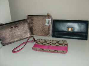 5 Items - Wristlets + Aldo Wallet + New Makeup Brush Set of 6