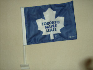 TORONTO MAPLE LEAFS-PREMIUM CAR FLAGS-Double Sided--1 Case avail