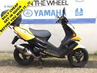 2004 54 PEUGEOT SPEEDFIGHT 2 50 BLACK/YELLOW - SPARES OR SALVAGE - LOW MILES!!!
