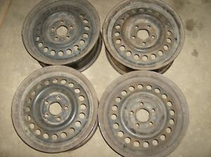"Set of 4 - 14"" steel rims Edmonton Edmonton Area image 1"