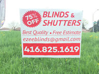 """24""""x20"""" Lawn Bag Signs with 1 colour print for $2.35/each"""