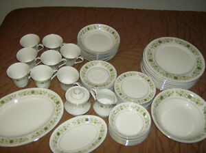 Mint, Complete Set of Towne House Green Dale Fine China