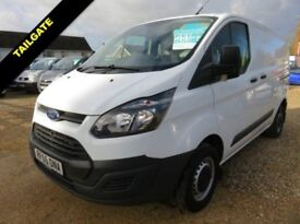 2015 65 FORD TRANSIT CUSTOM 2.2 TDCI 270 LOW ROOF SWB TAILGATE 19853 MILES ONLY
