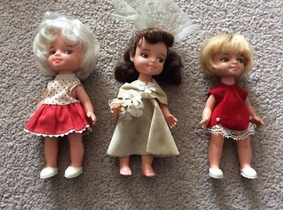 3  PERFEKTA  DOLLs  WITH ORIGINAL CLOTHES 1960s