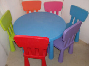 TABLE CHAISE TABOURET TABLE DE CHEVET IKEA MAMMUT POUR ENFANT