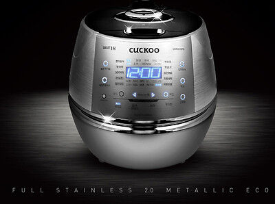 New CUCKOO IH CRP-DHR0610FS Pressure Rice Cooker 6 cups Premium Full Stainless