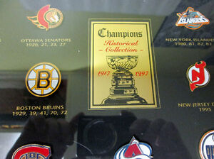1997 NHL STANLEY CUP CHAMPIONS FRAMED PIN COLLECTION! LEAFS.... Gatineau Ottawa / Gatineau Area image 2