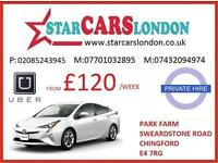 PCO CARS FOR HIRE/RENT,UBER READY TOYOTA PRIUS FORM ONLY £195 INC INSURANCE