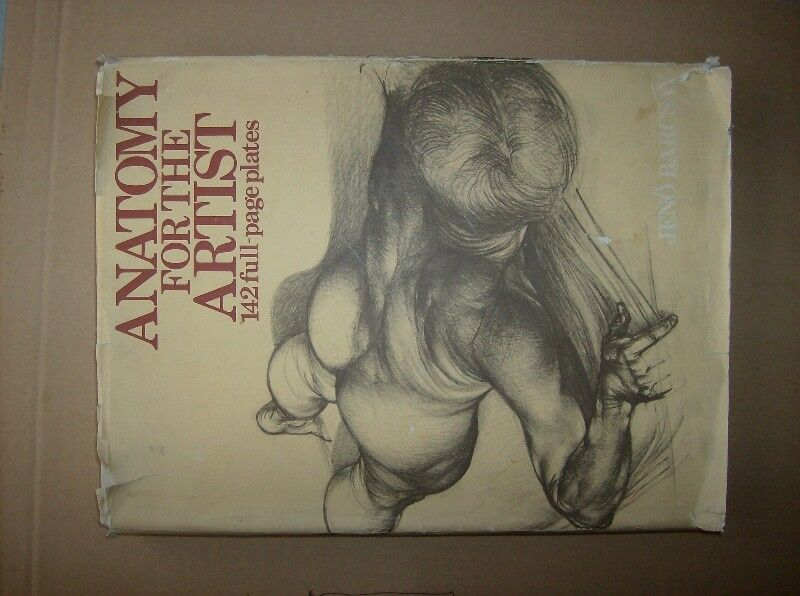 Book Anatomy For The Artist142 Full Plates1973from Hungary