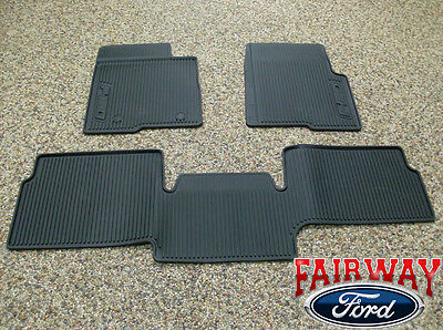 10 thru 14 Ford F 150 OEM Black Rubber All Weather Floor Mat 3 pc Extended Cab