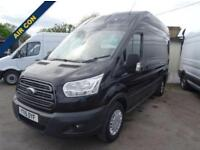 2015 15 FORD TRANSIT 2.2 350 TREND H/R P/V 1D 124 BHP BLACK METALLIC WITH AIR CO