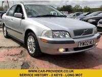 2002 VOLVO S40 SE 1.9 FULL SERVICE HISTORY 2 KEYS LONG MOT 4DR 136 BHP
