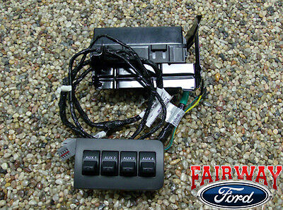 11 thru 16 Super Duty F250 F350 F450 F550 OEM Ford In-Dash Upfitter Switch Kit