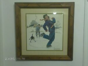 """Norman Rockwell 16"""" X 16"""" Print Framed And Matted"""