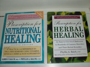 2 Health Books - Prescription for Nutritional Healing + Herbal H