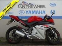 2015 15 YAMAHA YZF-R125 ABS MODEL, RED/WHITE *HPI CLEAR* *LOW MILES*