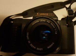 CANON T50 35MM CAMERA WITH CANON 50MM LENS