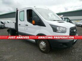 2018 Ford Transit 2.0 350 L3 DOUBLE CAB TIPPER 130 BHP (7 SEATS EURO 6 TWIN WHEE