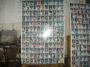 uncut hockey cards