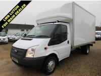 2013 63 FORD TRANSIT 2.2 TDCI 350 EF LWB LUTON WITH TAIL LIFT 125 BHP 60205 MILE