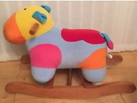 Baby colourful cow rocker