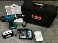 !!MAKITA HP457D 18v 2-Speed Combi Drill Driver + 2 x 18v Batteries + 14.4v - 18v Charger in Case!!