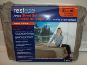2 NEW Twin Air Mattress Sheet Sets + New Foot Cleaner