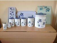 Blue bell ceramic kitchen set