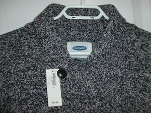 NEW Old Navy Mens Sweater with Tag & Mens Shirt Size 15 1/2