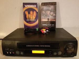 SHARP VC-H822U 4 Head Hi-Fi Stereo VHS VCR Video Player Recorder