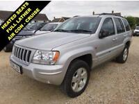 2004 04 JEEP GRAND CHEROKEE 2.7 LIMITED CRD 5D AUTO 161 BHP DIESEL SILVER 4X4 DI