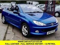2003 PEUGEOT 206CC ALLURE S 1.6 FULL SERVICE HISTORY COUPE CABRIOLET 108 BHP