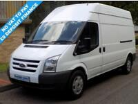 10(10) FORD TRANSIT 350 LWB HIGH ROOF 2.2 FWD 140 BHP 6 SPEED DIESEL * NO VAT *